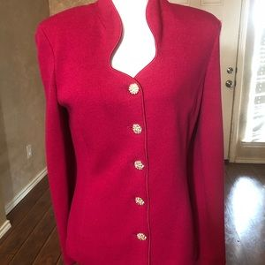 St. John Evening Pink Knit Jacket-6